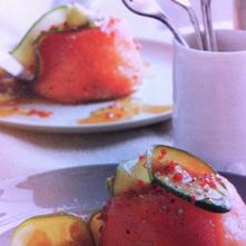zalm-garnalentimbaaltjes met pittige komkommer