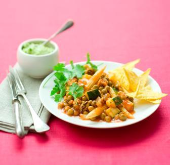 vegetarische chili met velderwten en tofu - delicious