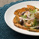 pompoensalade garnalen-delicious