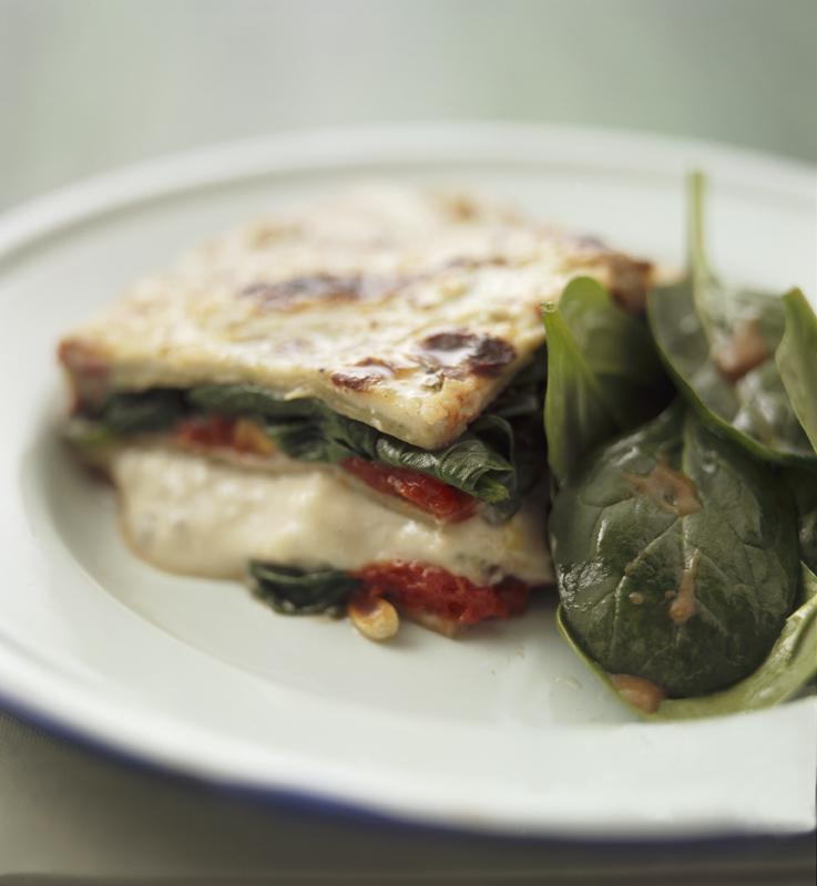 lasagne met spinazie en gorgonzola