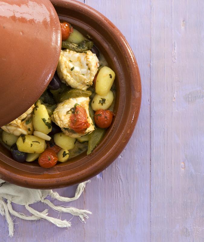vistajine met tomaat en aardappel