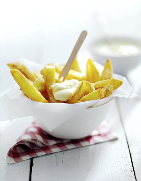 grote zelfgebakken frieten