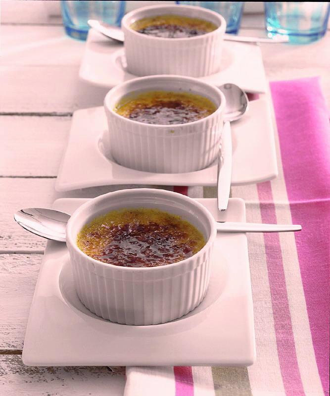 crème brulée met gember en limoen