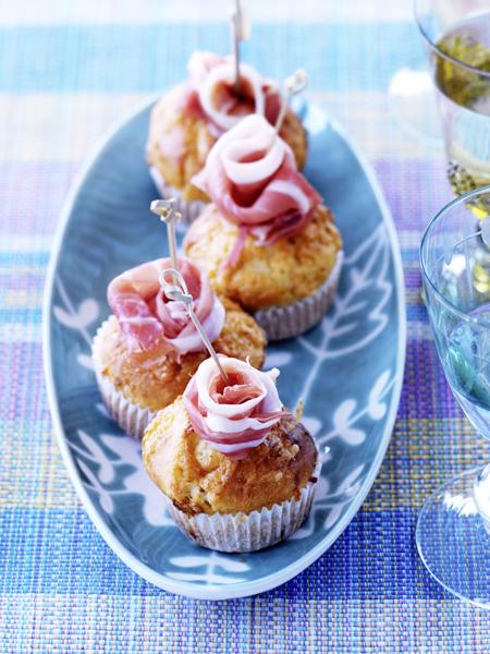 hartige muffins met ham