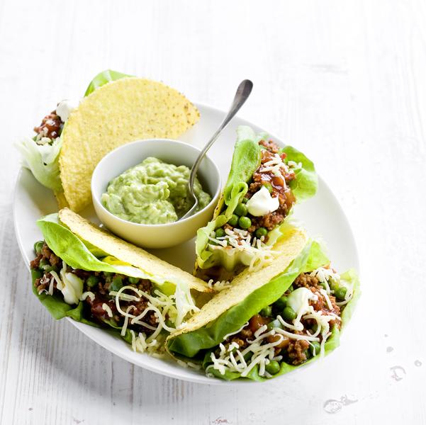 Taco doperwten-paprikavulling-delicious