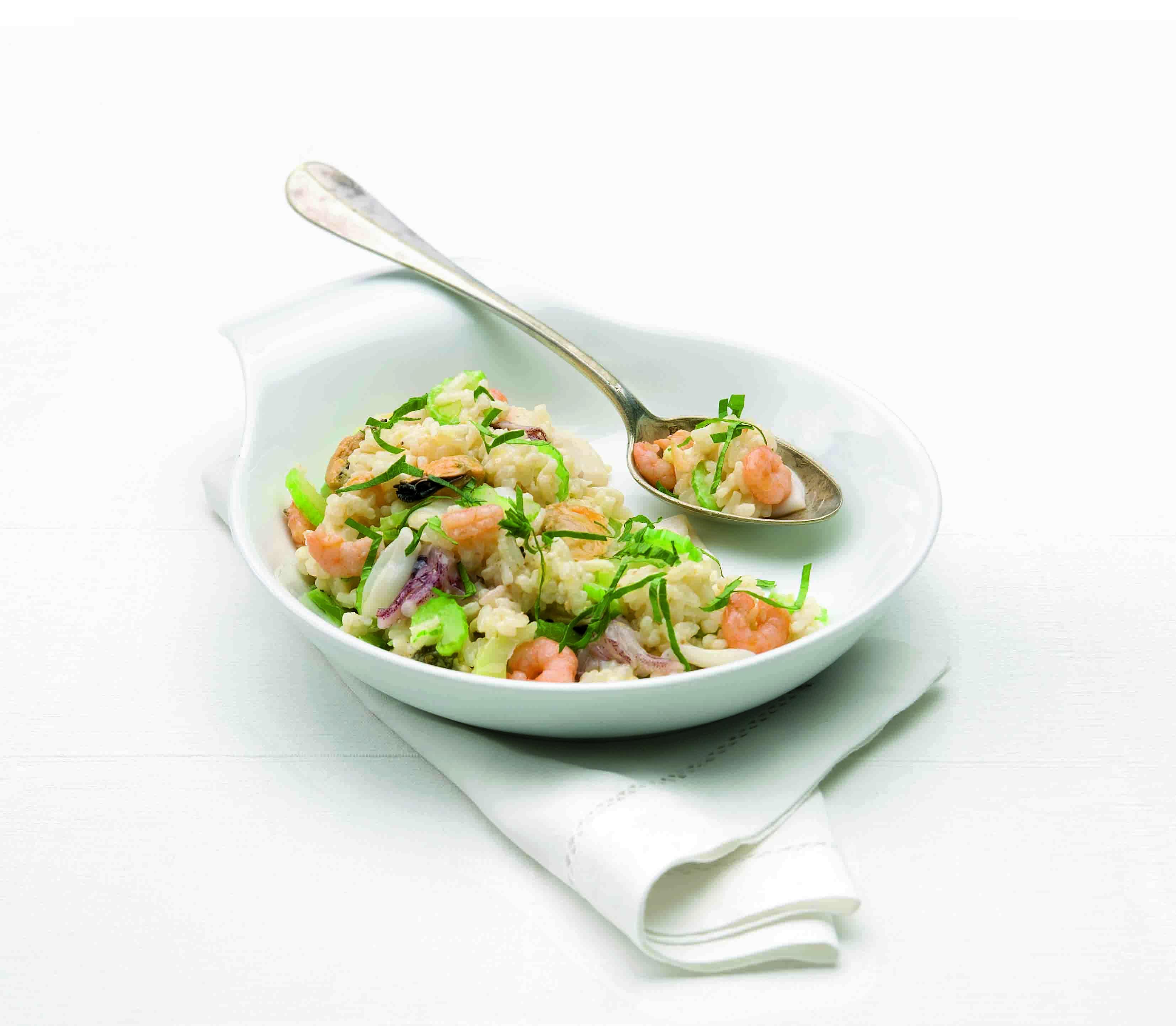 risotto met bleekselderij en zeefruit