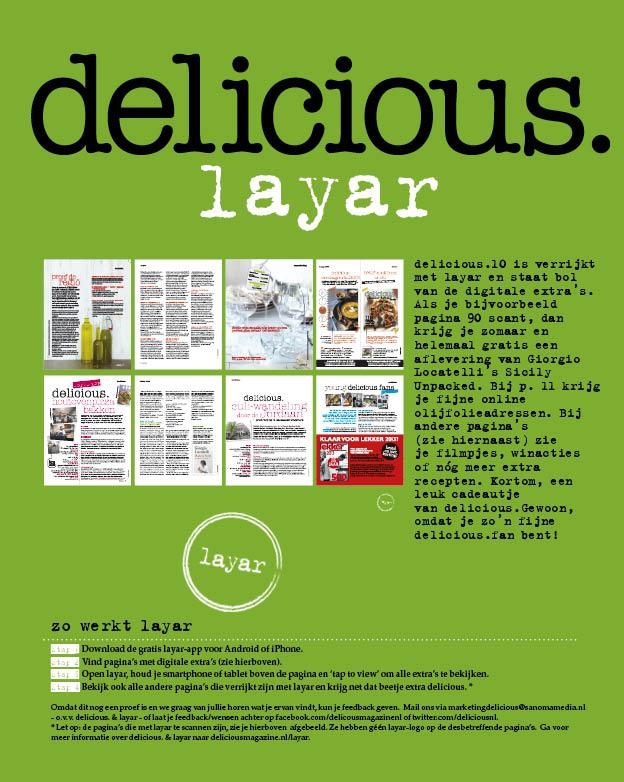 delicious. & Layar
