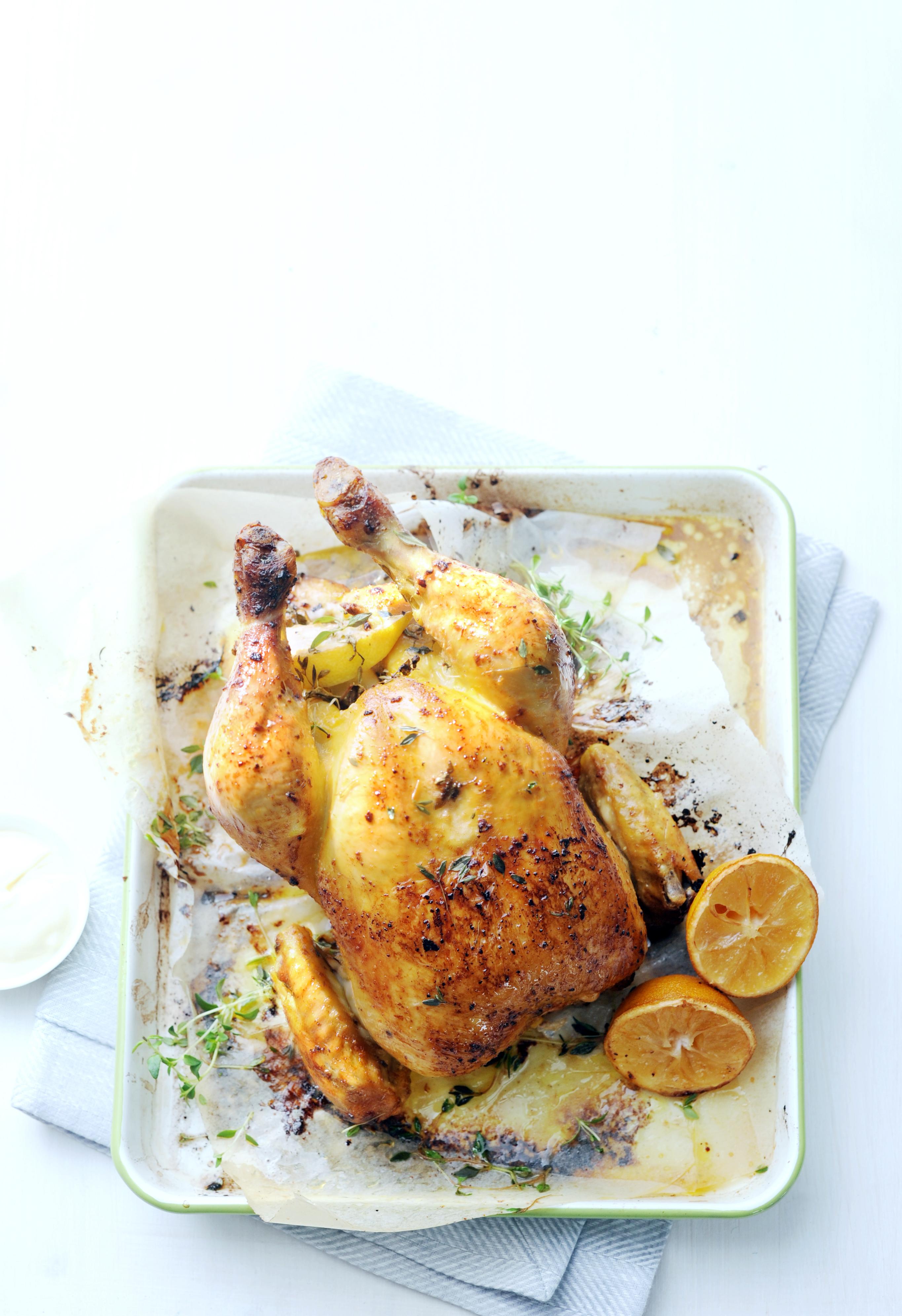 gebraden kip met knoflookmayonaise