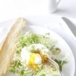 Salade gepocheerd ei-delicious