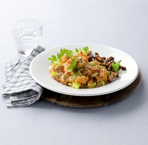 pittige stamppot zoete aardappel -delicious