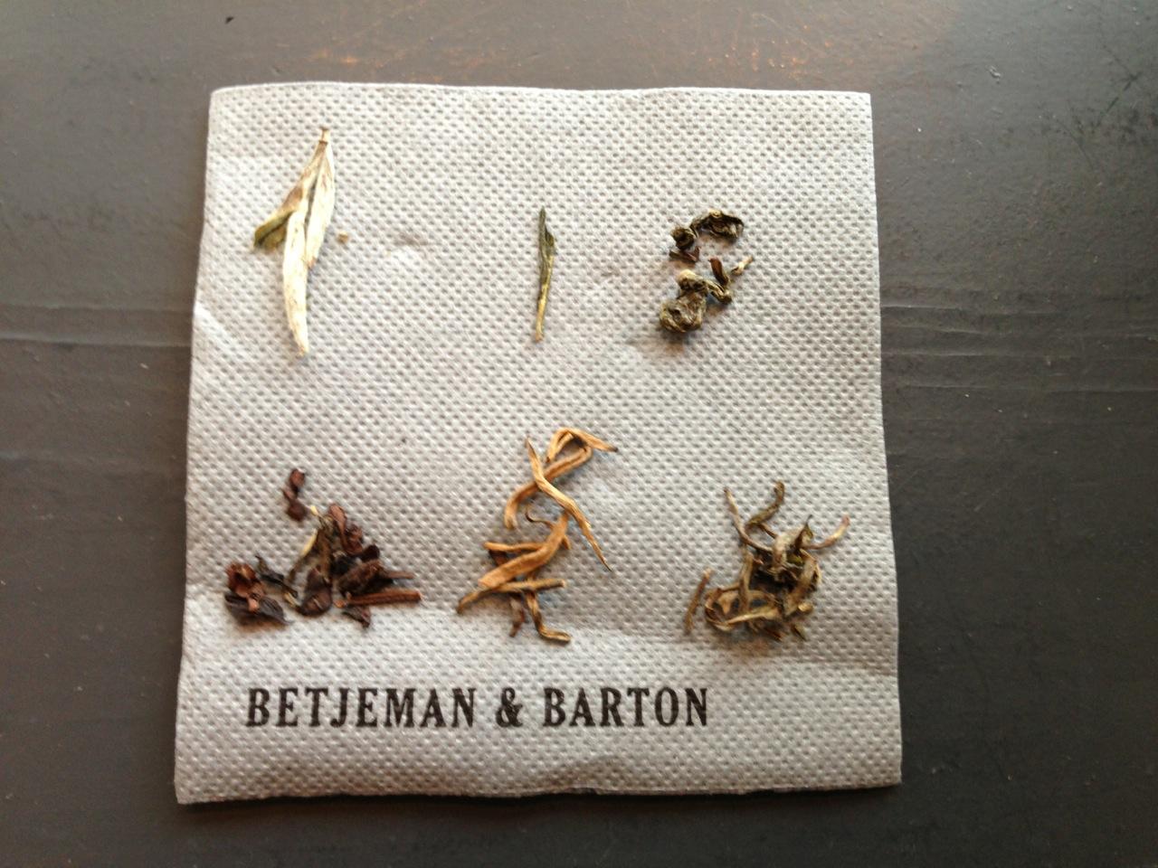 aanrader: theeproeven bij Betjeman & Barton