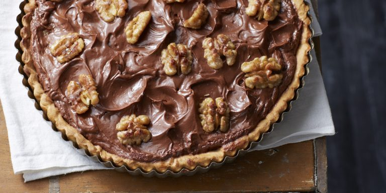 chocolade-walnotentaart