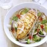 krokant gebakken kipfilet in oosterse groentebouillon - delicious