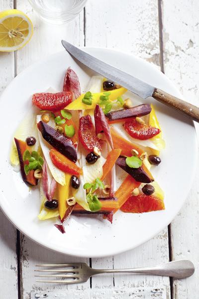 salade van witlof en wortel