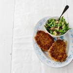 Boerenkaasschnitzel met boontjes - delicious