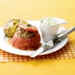 gegrilde gevulde vleestomaten - delicious