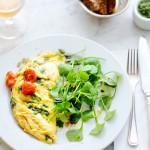 omelet geitenkaas postelein oregano - delicious