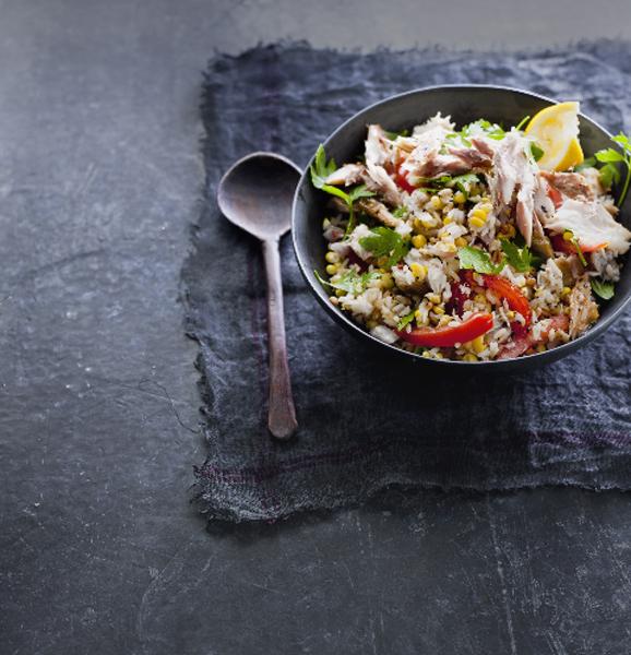 rijstsalade met pepermakreel