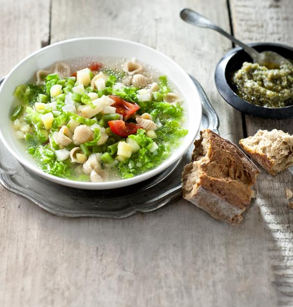 minestrone pompoenpitpesto - delicious