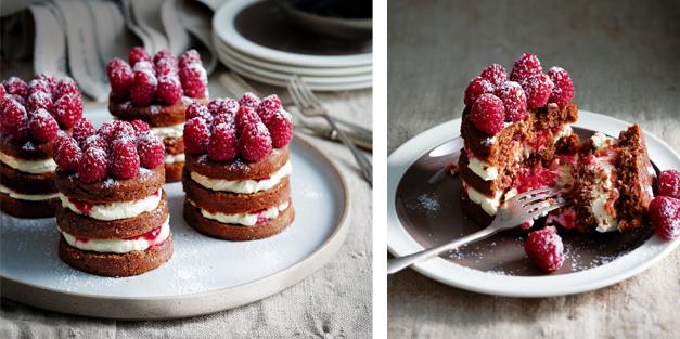 culi-vraag: chocoladetaartjes met room en frambozen