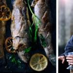 bergforel uit de oven en zuurkool - delicious