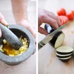 geroosterde groenten snijden - delicious