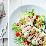 Salade gegrilde inktvis