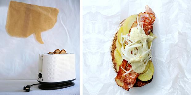 brood met aardappel spek mayo koolrabi - delicious