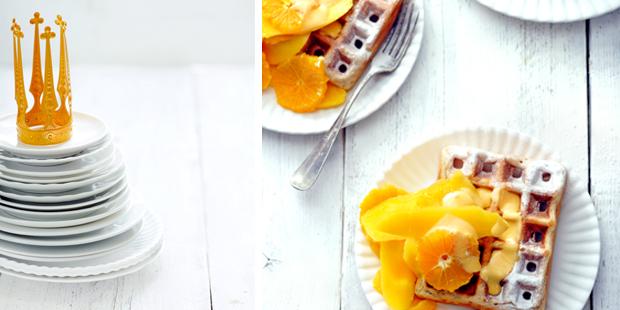 oranje wafels met sabayon en oranjebitter