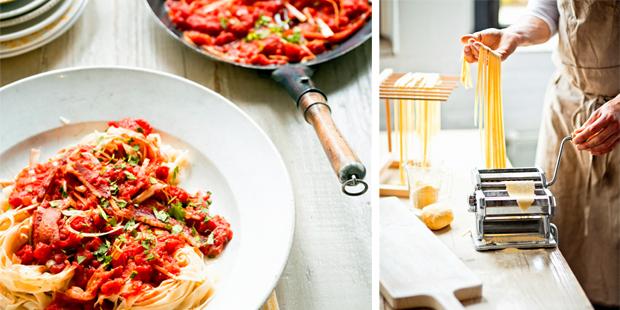 tagliatelle_homemade_tomatensaus - delicious