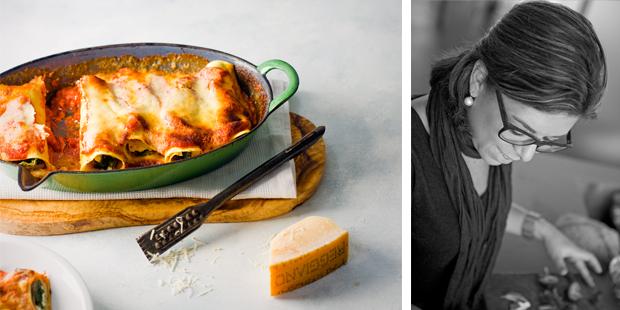 spinazie-ricottacannelloni met ham
