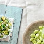 tuinbonensalade spinazieblad munt - delicious