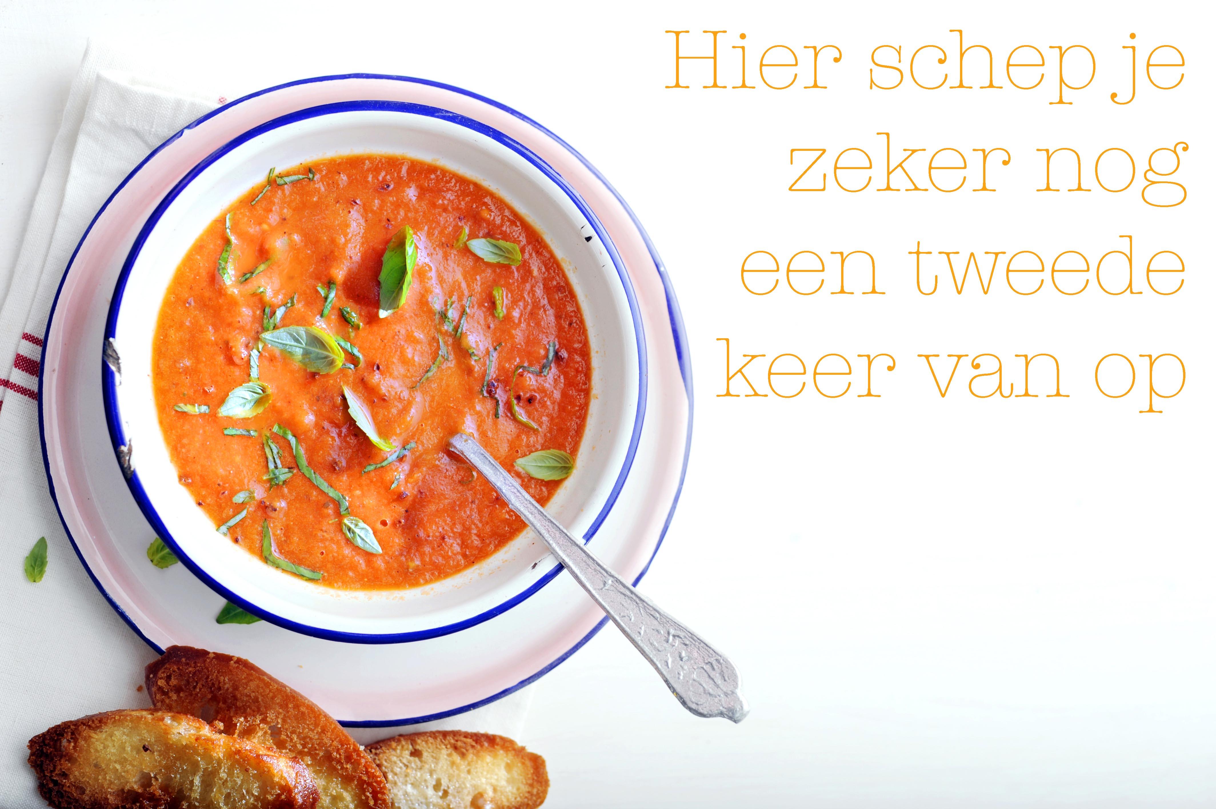 les 6: geroosterde tomatensoep met crostini's
