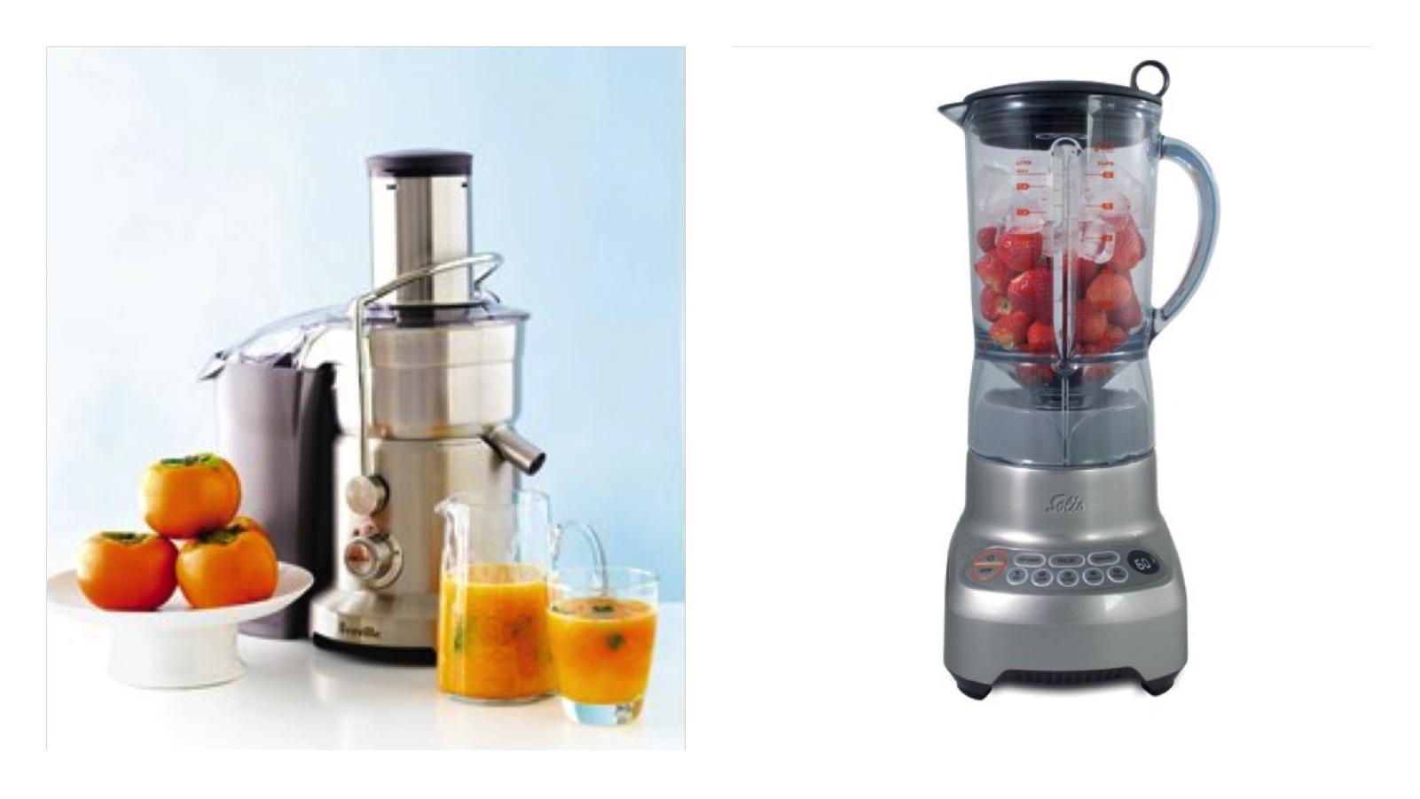 centrifugeren, blenden of slowjuicen