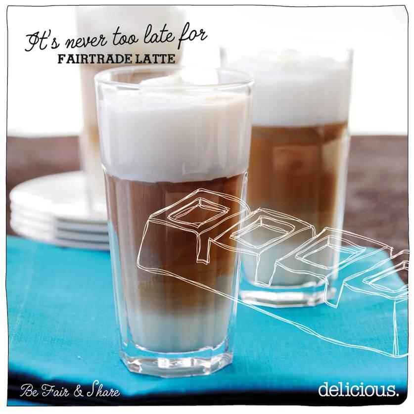 latte macchiato met fairtrade chocolade