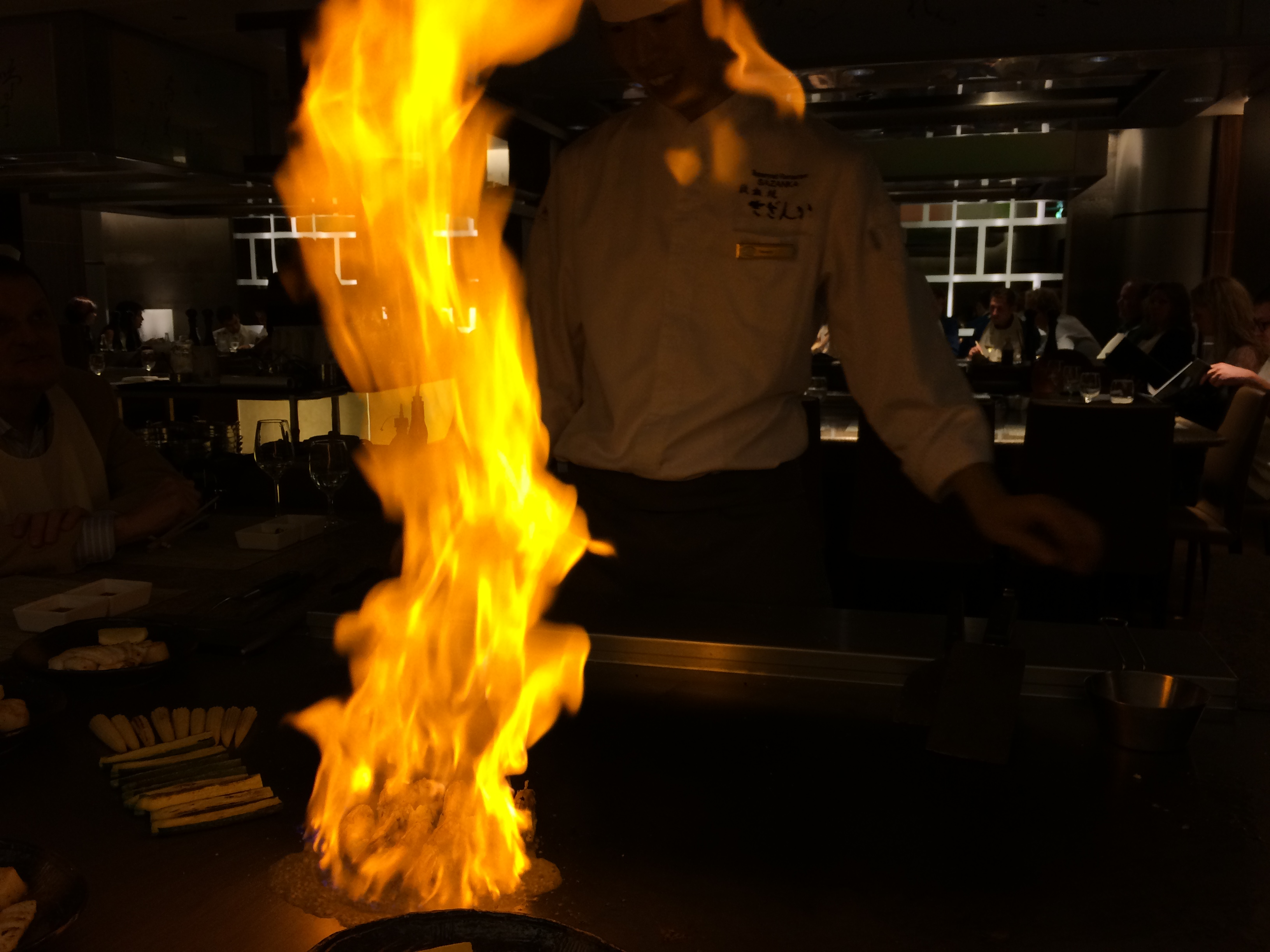 blog: vlammend diner bij sazanka