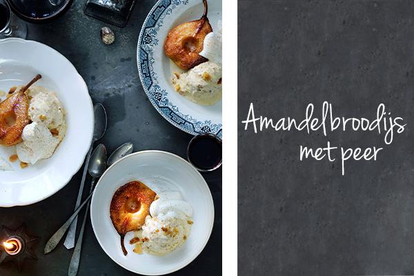 amandelbroodijs met peer | delicious