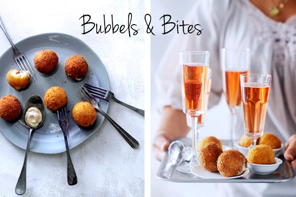 bubbels & bitterballen met serrano en manchego