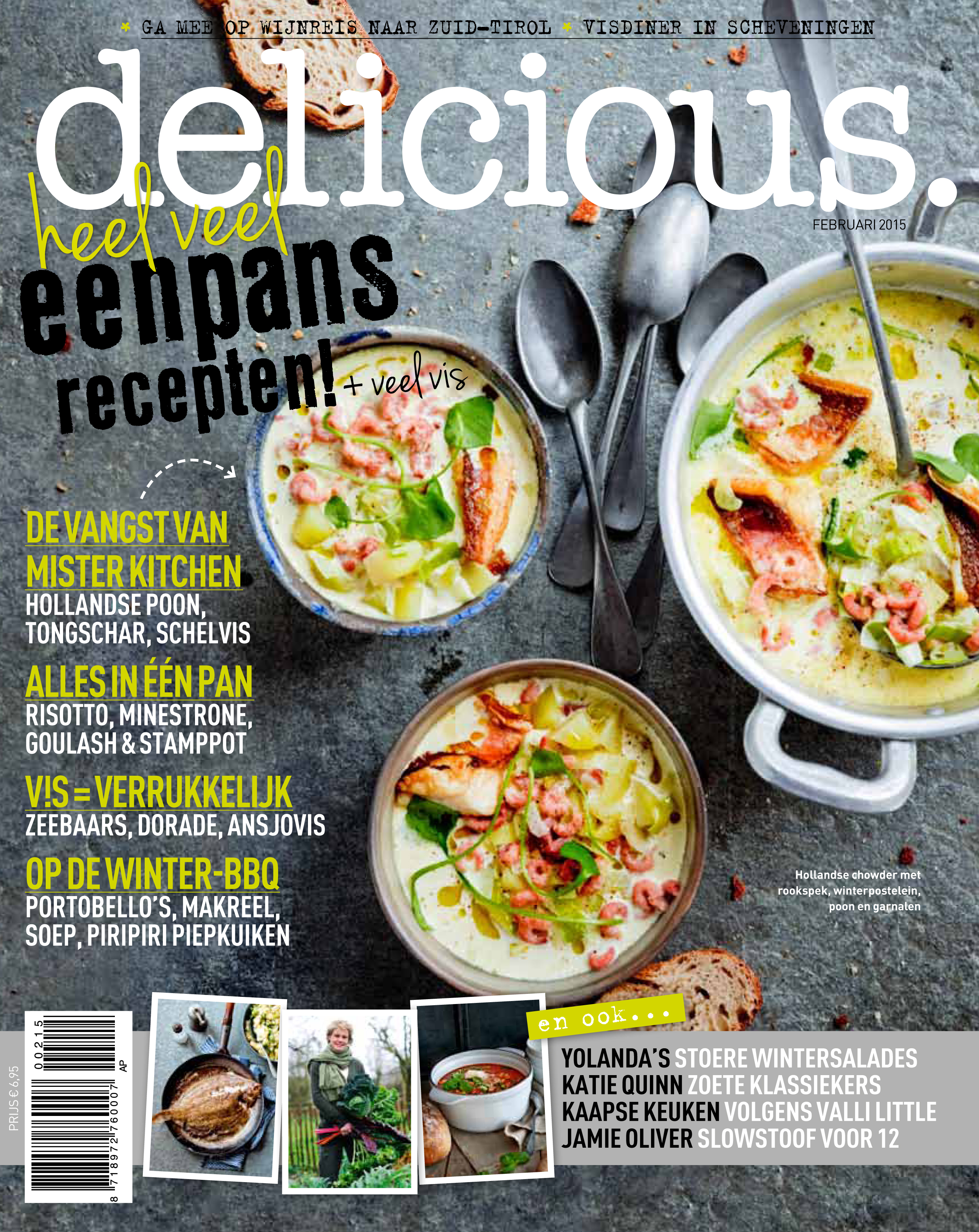 delicious. februari: eenpans recepten + veel vis