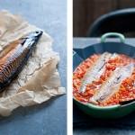 makreel met aubergine en amandelen | delicious