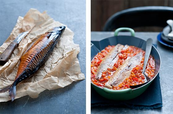 gerookte makreel met venkel tomatensaus | delicious