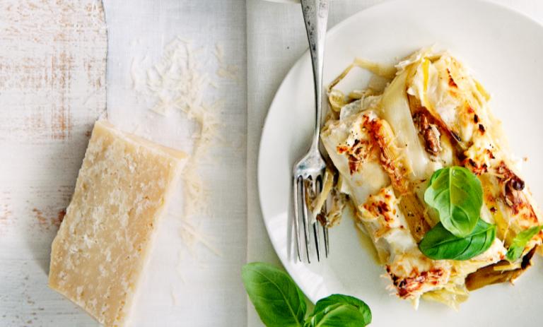 lasagne met prei en ricotta