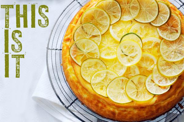 lemon & lime cheesecake