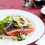zalm met doperwtenpuree | delicious