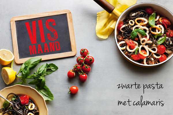 zwarte pasta met calamaris | delicious