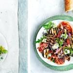 groentesalade met kruidenricotta | delicious