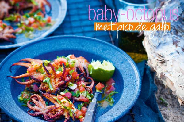 octopus met pico de gallo | delicious