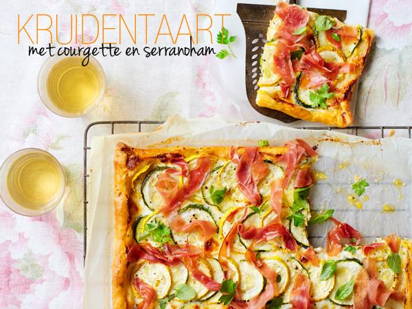 kruidentaart met courgette en serranoham | delicious