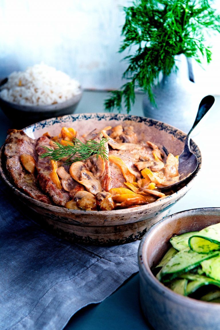 schnitzels paprika en champignons | delicious