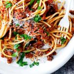 spaghetti met bier en bacon | delicious